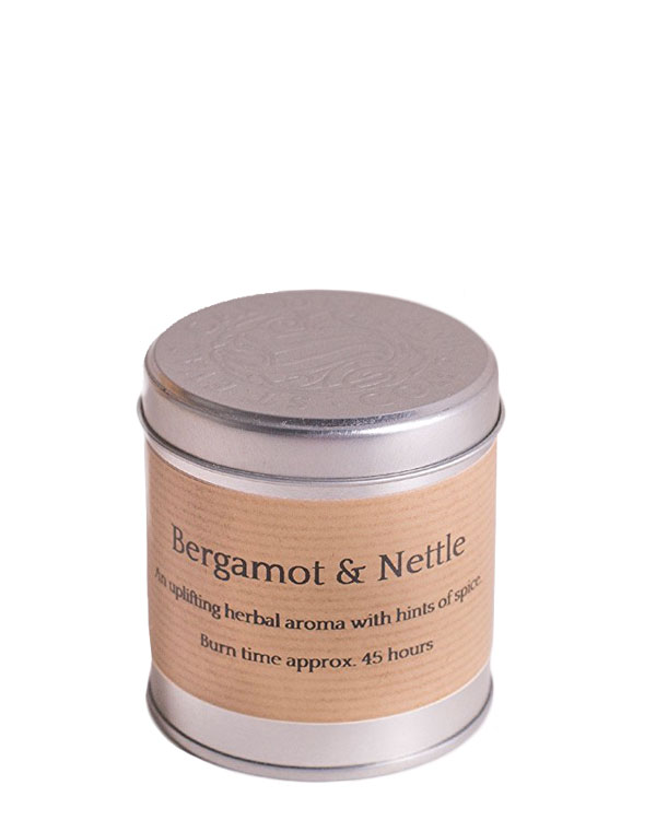 Bergamot and Nettle Tin Candle