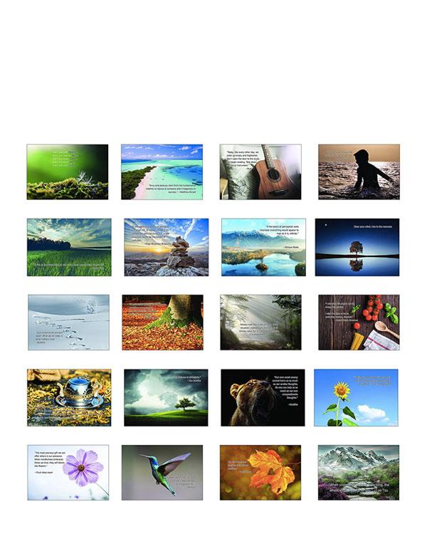 Set of 20 Mindfulness Postcards