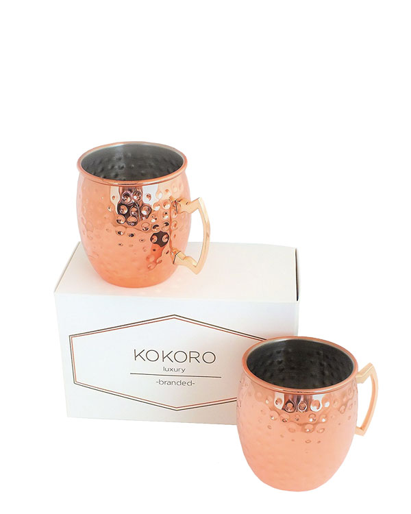 Copper Mug Set - Contemporary Style