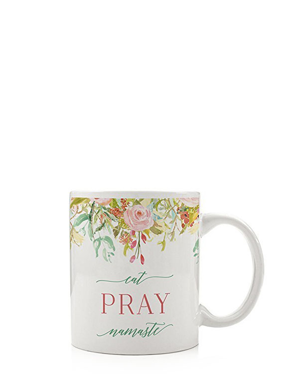Eat, Pray, Namaste Mug - Ceramic